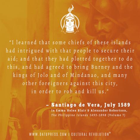 Excerpt from Don Santiago de Vera's letter